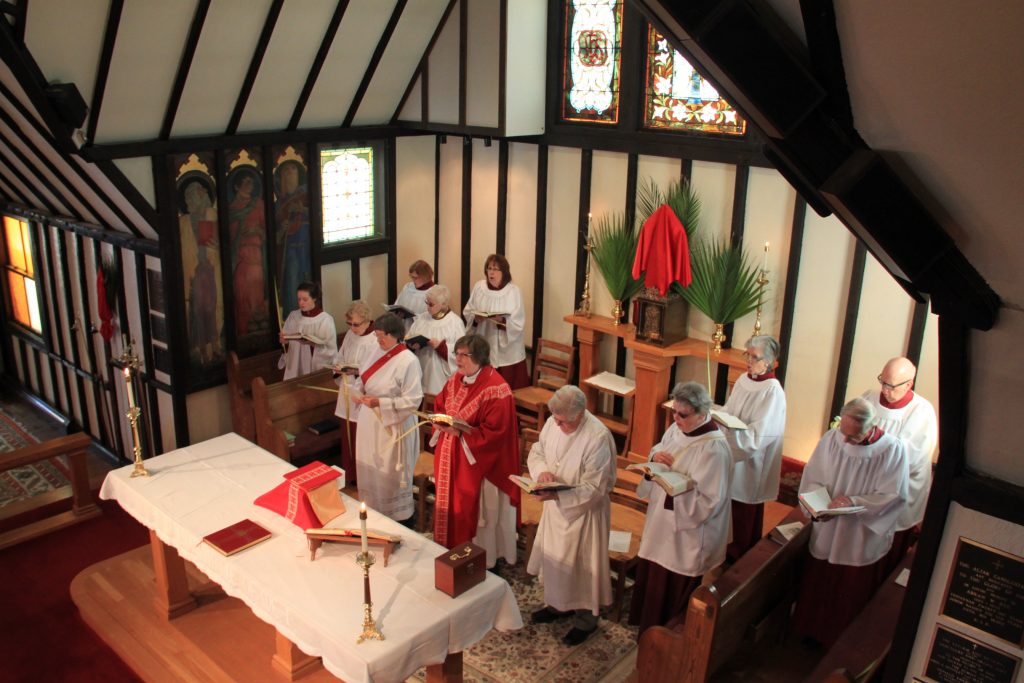 Mass at Episcopal Church in Rockland Maine
