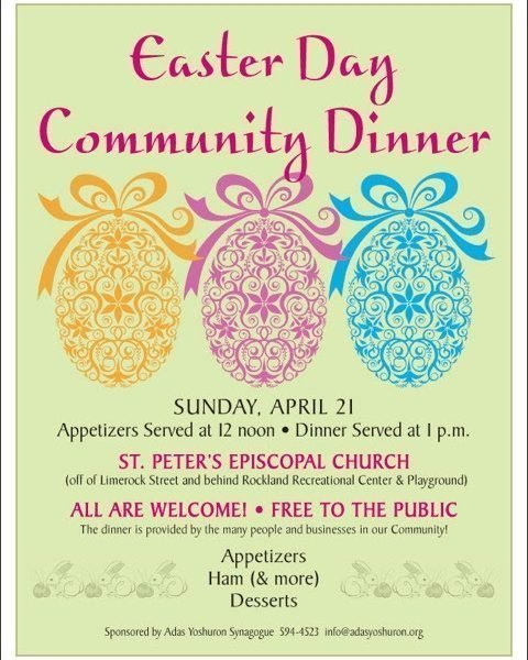 Community Easter Dinner April 21