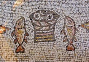 tiled image of loaves and fishes