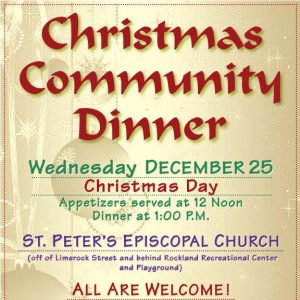 Flyer for Christmas Community Dinner